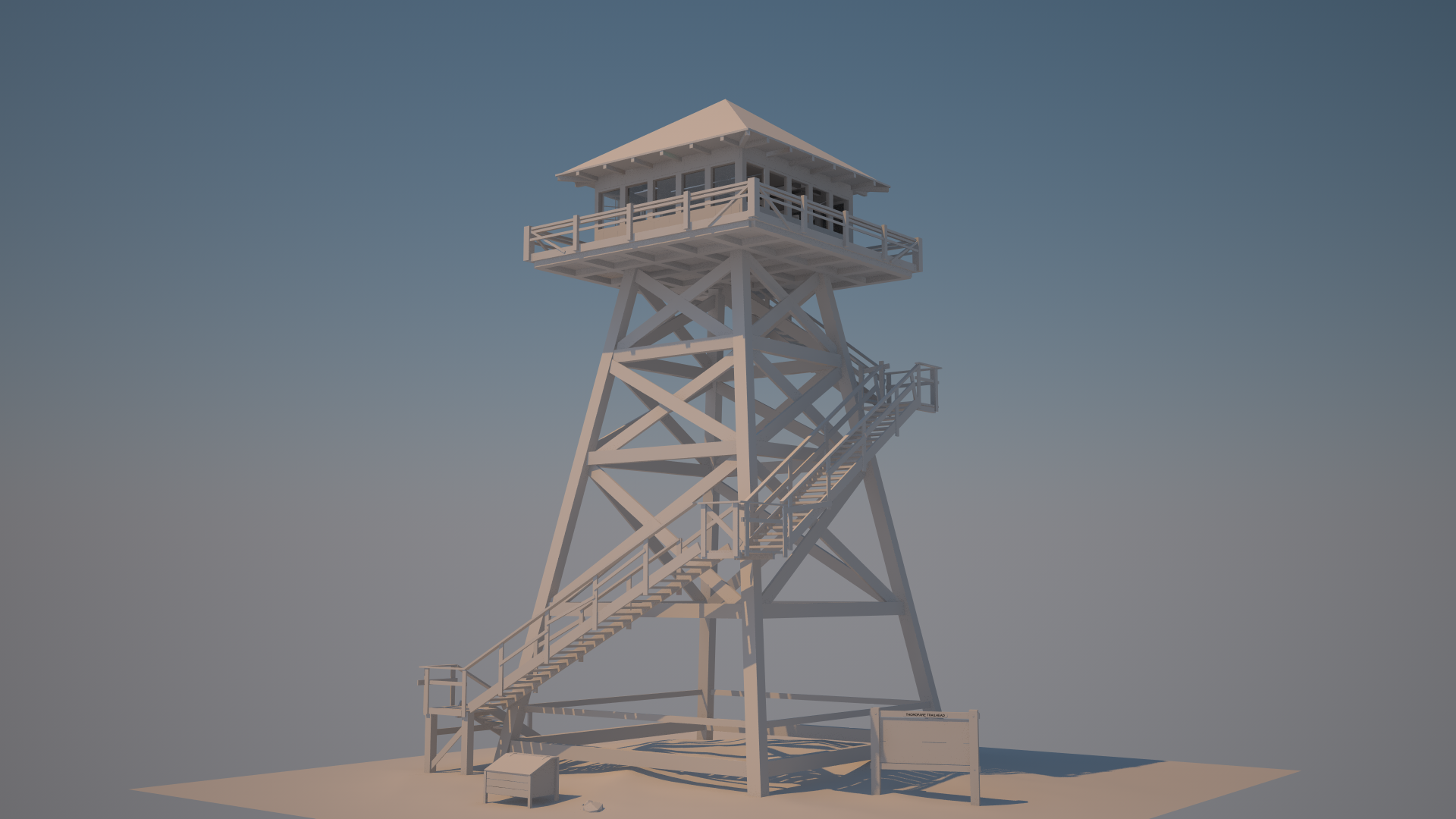 Firewatch Tower Full Model